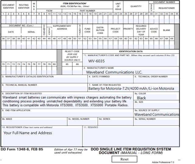 DD-1348-6 Form Example